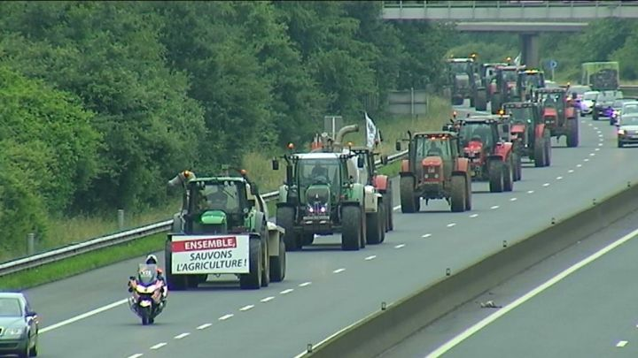Une trentaine d'agriculteurs ont manifest� � Luxembourg