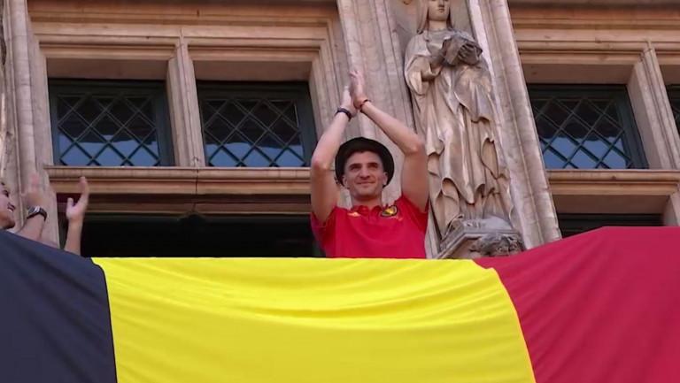 Les supporters luxembourgeois à Bruxelles pour saluer les Diables