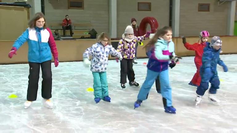 Salm sur glace. Des cours pour apprendre à patiner !