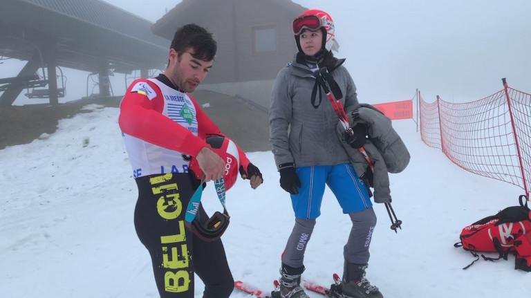 Rémi Mazi, skieur handisport aux côtés de valides