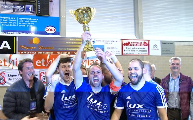 Futsal : le Racing Arlon remporte sa deuxième coupe !