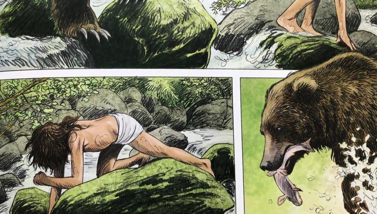 Jean-Claude Servais croque l'ours dans sa nouvelle BD
