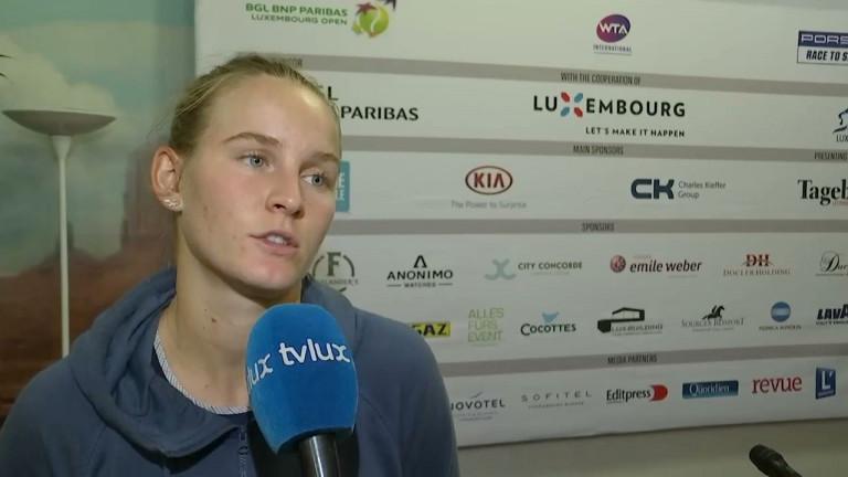Tennis : Fiona Ferro, joueuse française originaire de Paliseul