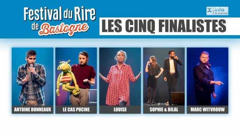 """Bastogne : voilà les 5 finalistes du concours """"les Talents de l'humour"""" du festival du rire"""