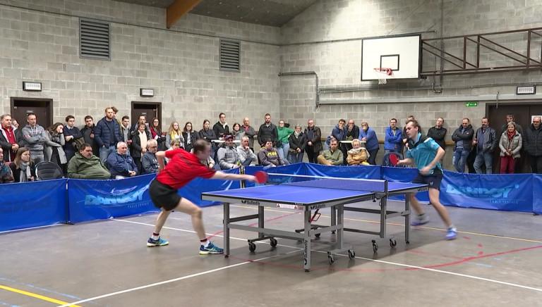 Tennis de Table. Du monde pour la rencontre Aye-Auderghem