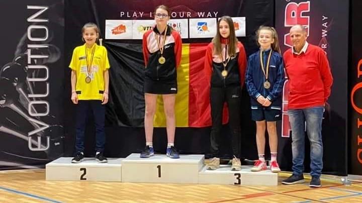 Oriane Janes championne de Belgique chez les minimes