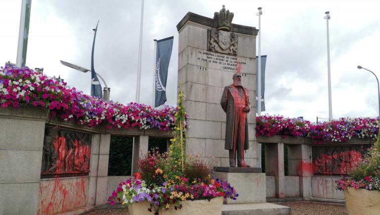 Arlon : la statue de Léopold II vandalisée