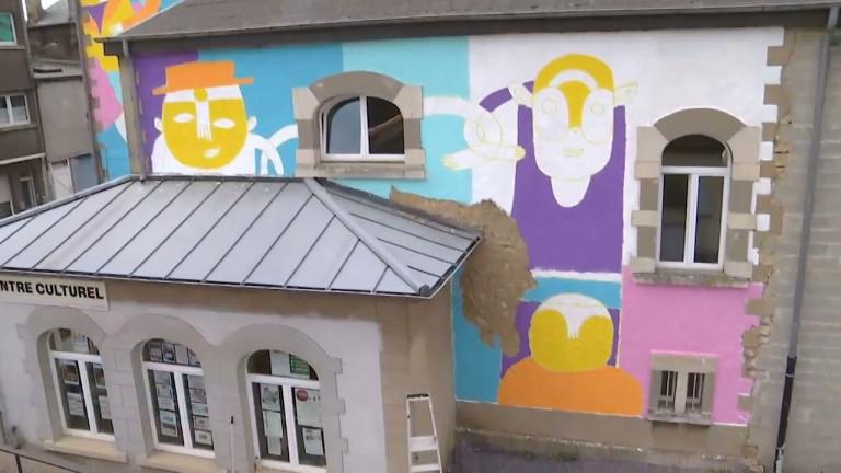 Athus : le street art s'invite sur les murs du Centre culturel