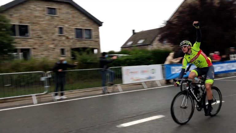 Tom Paquot, vainqueur de la 1ère étape de l'Arden Challenge