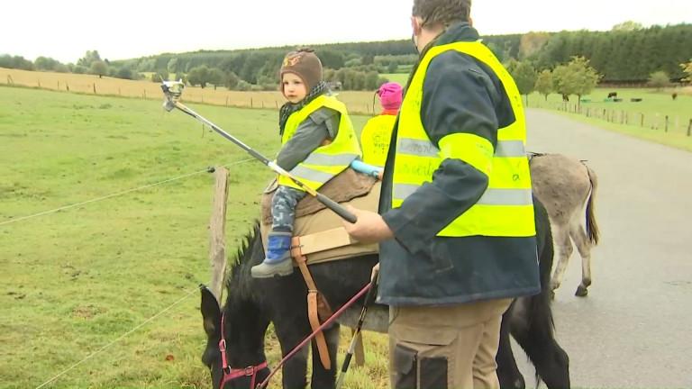 Ste-Ode. Des bénévoles (et des ânes) pour une Wallonie plus propre