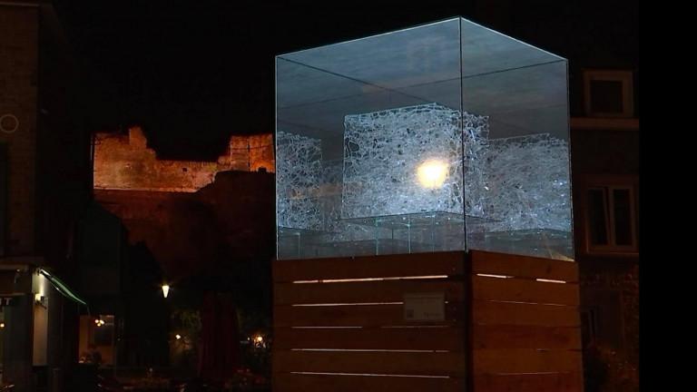 La Roche. Des cubes de verre illuminés dans le cadre du BAM