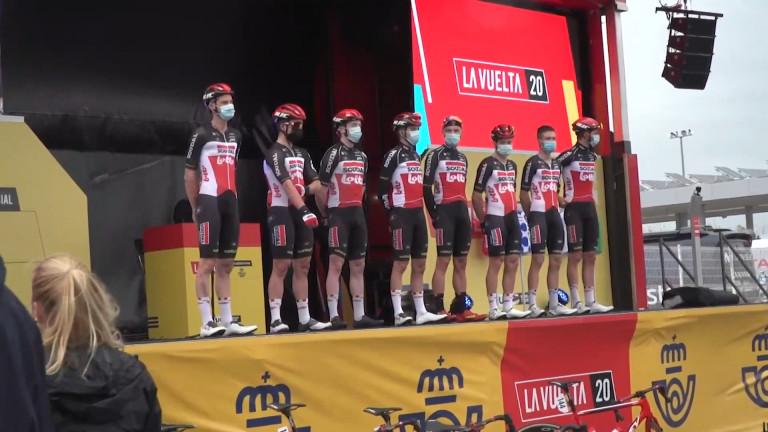 L'Arlonais Remy Mertz au départ de la Vuelta