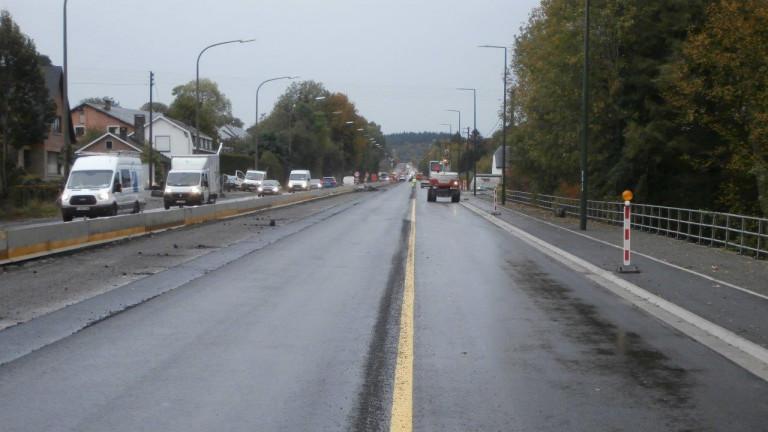 Tenneville : basculement du trafic sur les voies vers Marche-en Famenne