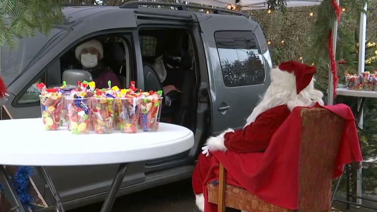 Halanzy. Un drive in pour voir le Père Noël