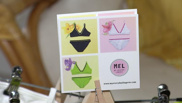 Mélanie Gontier a créé de la lingerie BIO, respectueuse de l'environnement et du corps des femmes