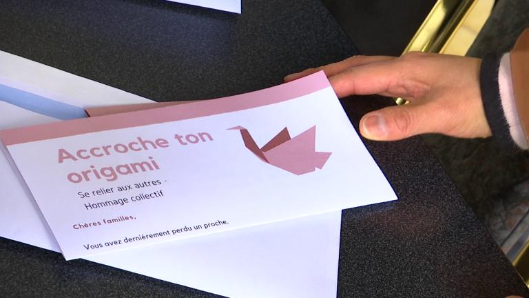 Un origami et plus de soutien aux familles endeuillées