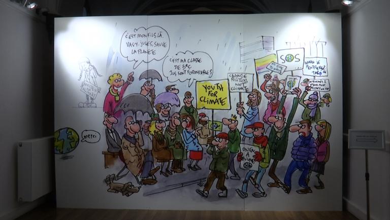 Arlon : le dessinateur Pierre Kroll expose au palais