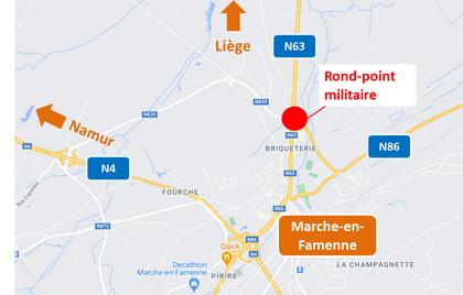 Réhabilitation du rond-point militaire à Marche-en-Famenne