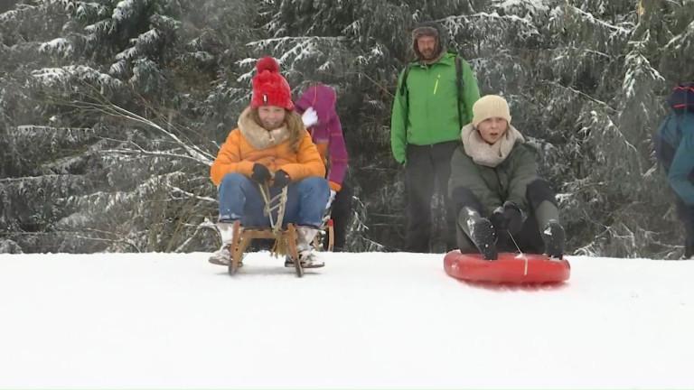 Baraque de Fraiture : retour de la neige... et des plaisirs de la glisse