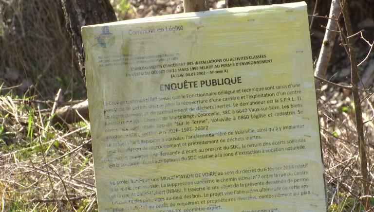 Inquiétude autour d'une possible réouverture de la carrière de Volaiville (Léglise)
