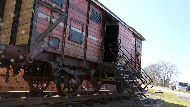 Bihain : le wagon de la déportation rénové en hommage à H. Kichka