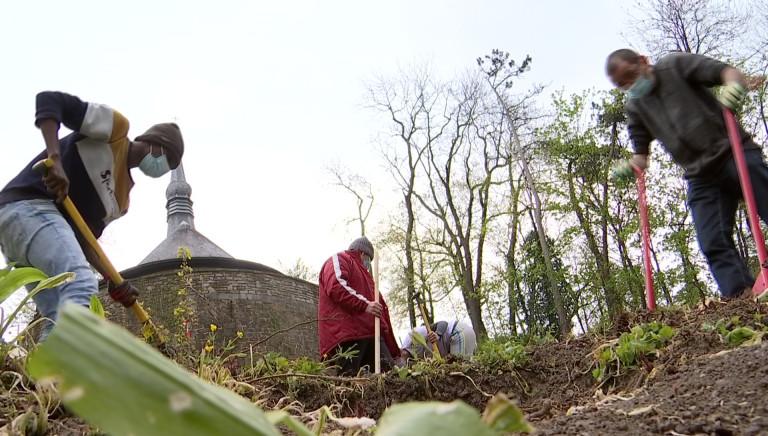 Le jardin pour les jeunes, des Compagnons bâtisseurs, sort de terre
