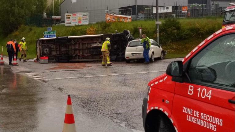 Bertrix. Quatre blessés au carrefour du Saupont suite à un accident entre trois véhicules