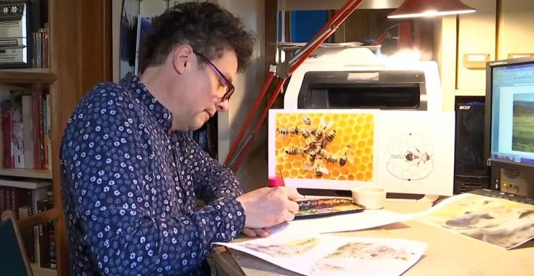 Houffalize : Stéphane Deprée illustre un livre sur les animaux