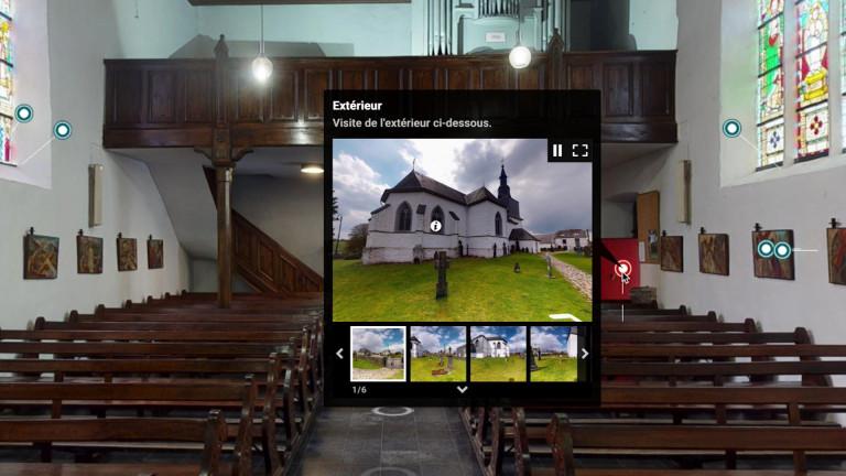 Libramont : trois églises et chapelle à découvrir en 3D