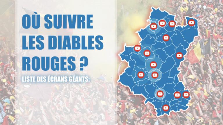 Voici les endroits où suivre les Diables sur écran géant en province de Luxembourg