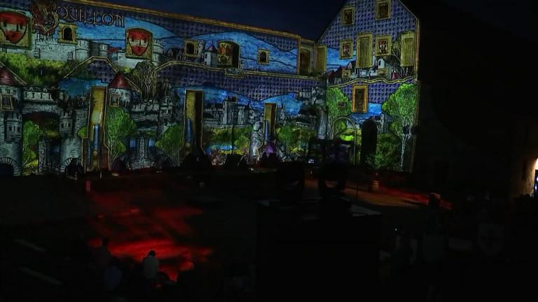 Un vidéo mapping pour redonner vie à l'histoire du château de Bouillon