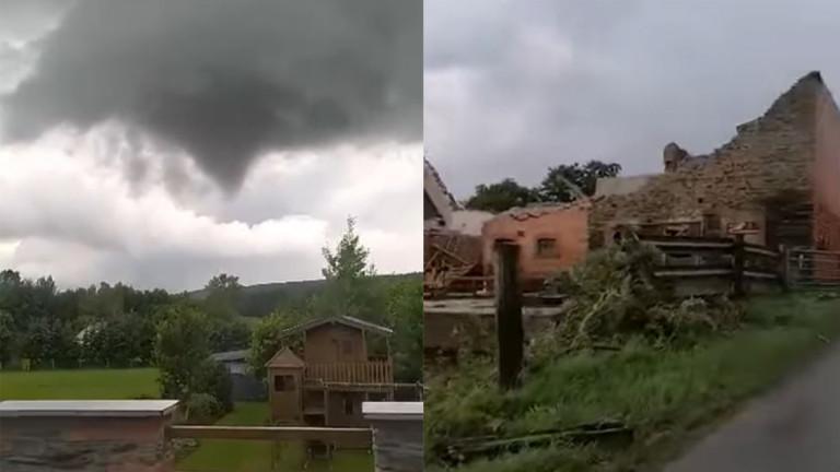 Houffalize : une tornade dévaste une ferme à Bernistap