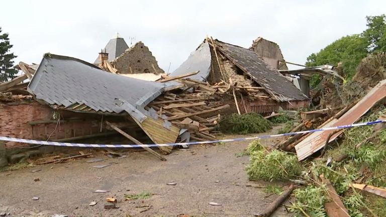 Une tornade détruit la ferme-château de Bernistap
