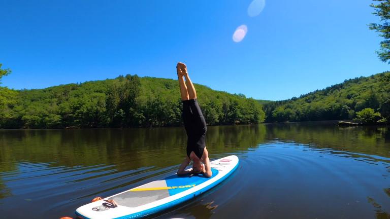 A la découverte du Paddle yoga au lac du barrage de Nisramont