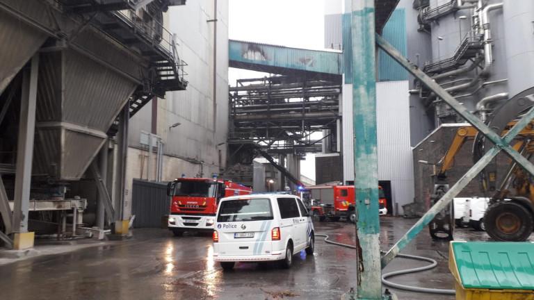 Incendie à l'usine Burgo à Virton. Pas de blessés mais des dégâts matériels