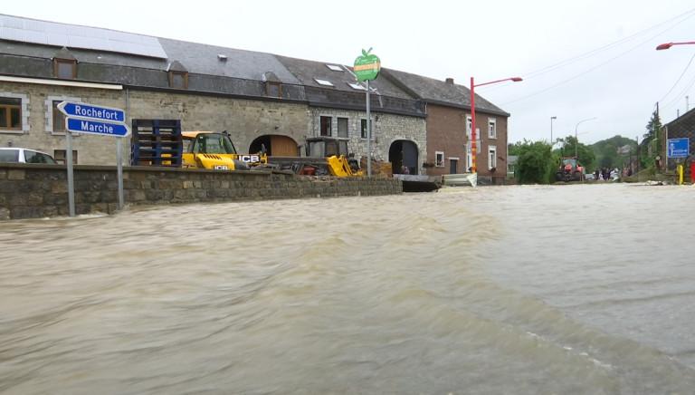 """On et Hargimont où la situation reste préoccupante: """"La force incroyable de la rivière"""""""