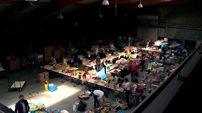 Le Bertrix Hall rassemble des dons pour les sinistrés