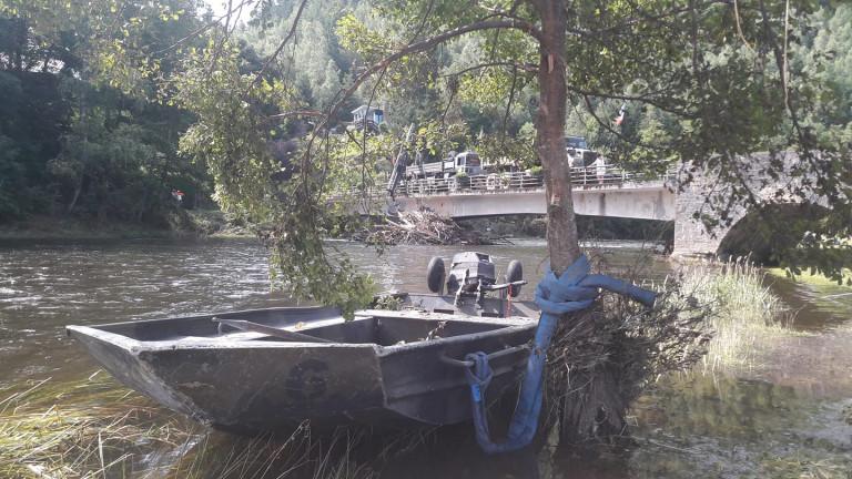 La Défense nationale dégage le pont de Maboge à La Roche-en-Ardenne