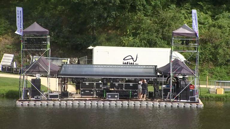 """Neufchâteau. Une scène flottante pour le premier """"Summer Lake Festival""""!"""
