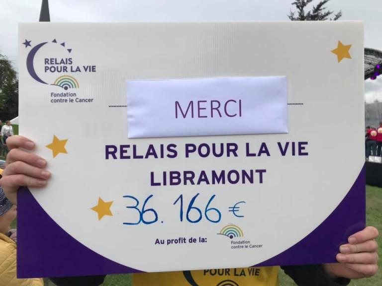 Libramont : plus de 36.000€ récoltés lors du Relais pour la Vie