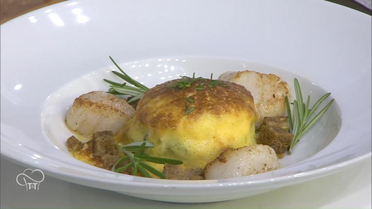 Les œufs pochés gratinés façon florentine