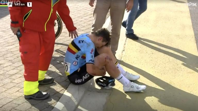 Mondiaux de cyclisme espoir : Arnaud De Lie victime d'une lourde chute