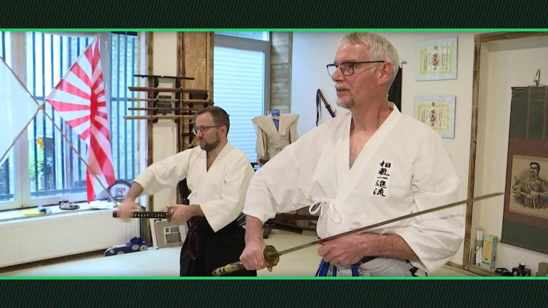 Sport. GRAND FORMAT. Portrait de l'Ichi Dojo, l'école de sabre japonais à Arlon